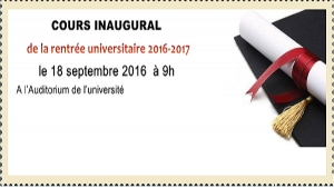 Cours Inaugural