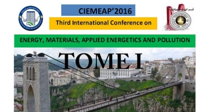CIEMEAP 2016  Third International Conference on ENERGY  MATERIALS  APPLIED ENERGETICS AND POLLUTION TOME I