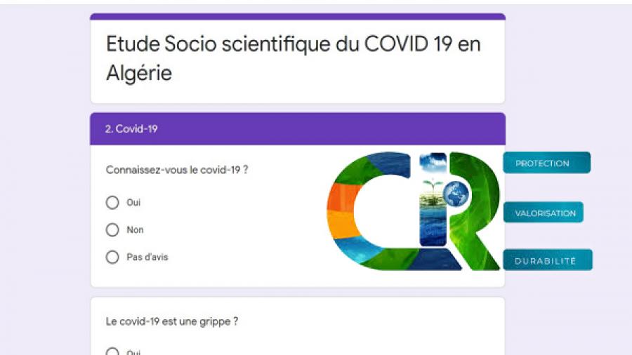 Questionnaire for a socio-scientific study following the CORONA COVID-19  pandemic - Université Frère Mentouri - Constantine 1
