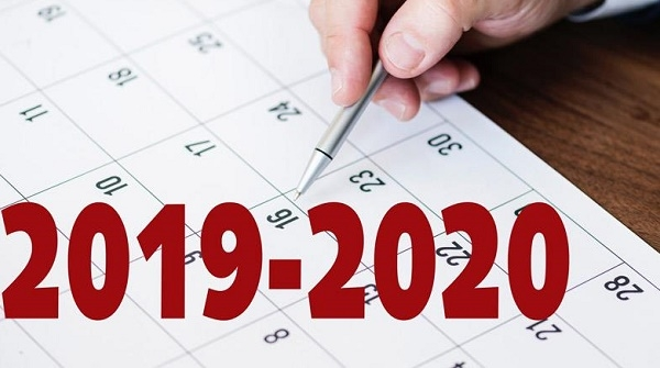 CALENDAR OF THE UNIVERSITY YEAR 2019-2020