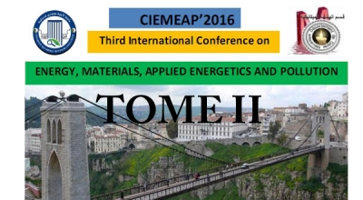 CIEMEAP 2016  Third International Conference on ENERGY  MATERIALS  APPLIED ENERGETICS AND POLLUTION TOME II